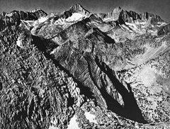 Mount Brewer Group from Glen Pass, a Photograph by Ansel Adams