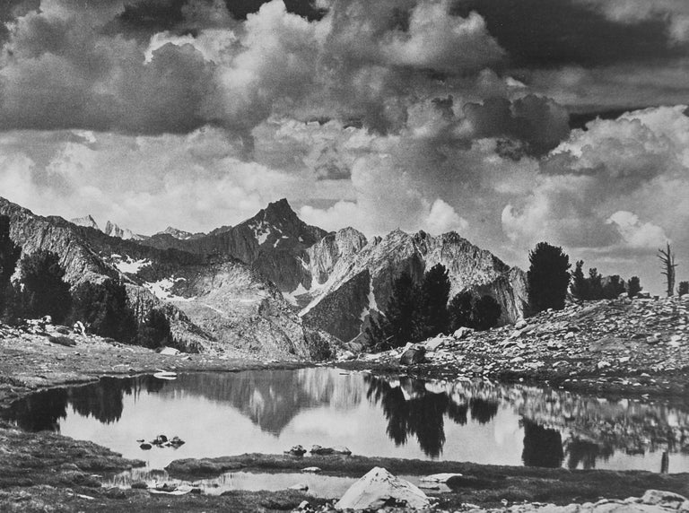 """Mount King in Kings River Sierra, a Photograph by Ansel Adams.  This gorgeous photograph is from Ansel Adams epic work """"SIERRA NEVADA, The John Muir Trail"""", a book published in 1938 in a limited edition of just 500 of which this is #190. The print"""