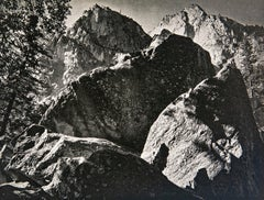Peaks and Talus, Kings River Canyon, a Photograph by Ansel Adams