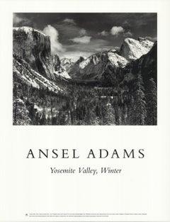 "ANSEL ADAMS Yosemite Valley, Winter 29.25"" x 22.5"" Poster 1995"