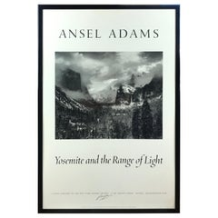 "Ansel Adams ""Yosemite and the Range of Light"" Poster Signed"