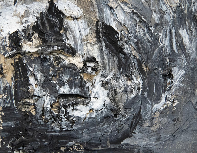 San Loretto - Gray Abstract Painting by Anselm Kiefer