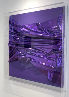 Untitled Untitled, 2007, foil painting, mixed media, abstract art object, purple