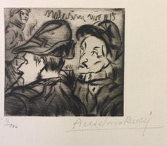 Alpino - Original Etching by Anselmo Bucci - 1917