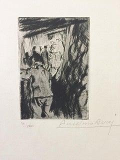 En Tranchée Ouverte - Original Etching by Anselmo Bucci - 1917