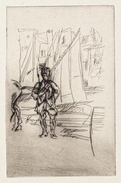 Front Italien - Original Etching on Paper - 1918