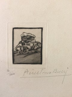 Fusilier - Original Etching by Anselmo Bucci - 1917