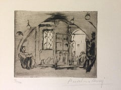 Le Poisonnier - Original Etching by Anselmo Bucci - 1917