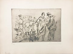 Le rata - Original Etching by Anselmo Bucci - 1917