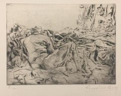 Le Reve - Original Etching by Anselmo Bucci - 1917