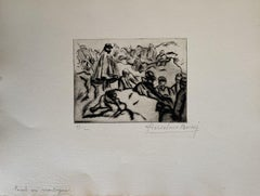 Militant - Original Etching by Anselmo Bucci - 1914