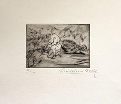 Militant - Original Etching by Anselmo Bucci - 1917
