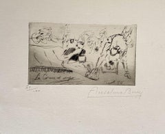 Militant - Original Etching by Anselmo Bucci -  1917s