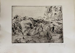 Militants - Original Etching by Anselmo Bucci - 1917