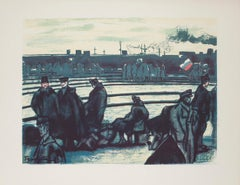 Militaries in Station - Original Lithograph on Paper - 1918
