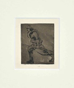 Military - Original Etching by Anselmo Bucci - 1910s