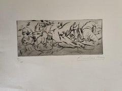 Military - Original Etching by Anselmo Bucci - 1917s