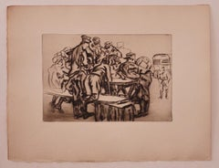Military - Original Etching by Anselmo Bucci - 1919
