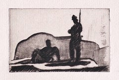 Military - Original Etching on Paper by Anselmo Bucci - 1909 ca.