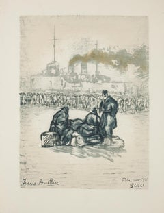 Pula 1918 - Original Lithograph on Paper - 1918