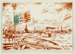 The War - Original Lithograph by Anselmo Bucci - 1918