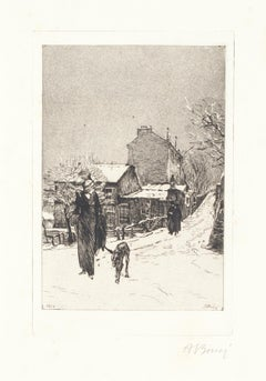 Under the Snow - Original Etching by Anselmo Bucci - 1913