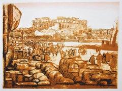 Verona - Original Lithograph by Anselmo Bucci - 1917
