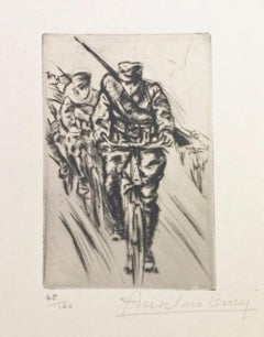 Vite... - Original Etching by Anselmo Bucci - 1917