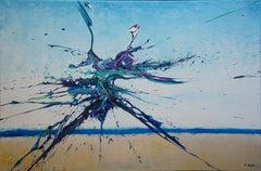 Artist's Beach IV (Spirits Of Skies 096131), Painting, Acrylic on Canvas