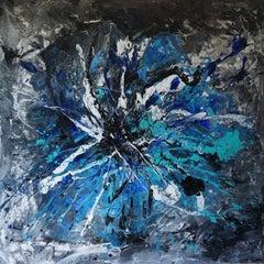 Peacock Fan, Painting, Acrylic on Canvas