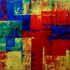 Squaredance Of Colors, Painting, Oil on Canvas