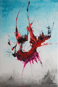 War Of The Worlds I (Spirits Of Skies 096095), Painting, Acrylic on Canvas