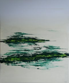Wide Open Green (100 x 120 cm) XXL (40 x 48 inches, Painting, Acrylic on Canvas