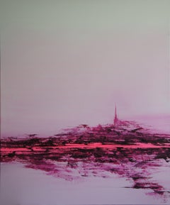 Wide Open Pink(100 x 120 cm) XXL (40 x 48 inches), Painting, Acrylic on Canvas