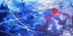 Winter Sun (100 x 50 cm) oil (40 x 20 inches), Painting, Oil on Canvas
