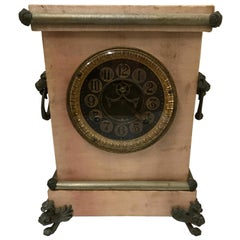 Ansonia Mantel Clock with Satin Finish, Late 19th Century