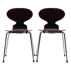 Ant Chairs (Pair), Model 3100 Chairs by Arne Jacobsen for Fritz Hansen in 1952