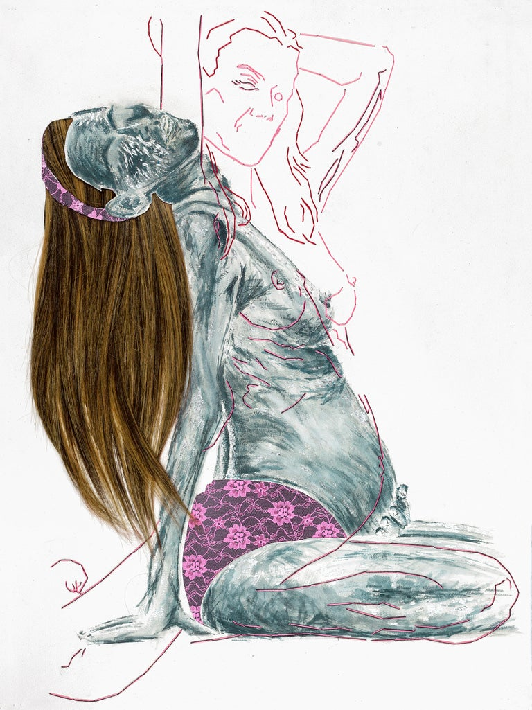 Homo Deus #1#4 - Mixed Media Art by Ant Pearce