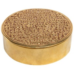 Antagonisms or the Monad, Gilded Bronze Box, Line Vautrin, France