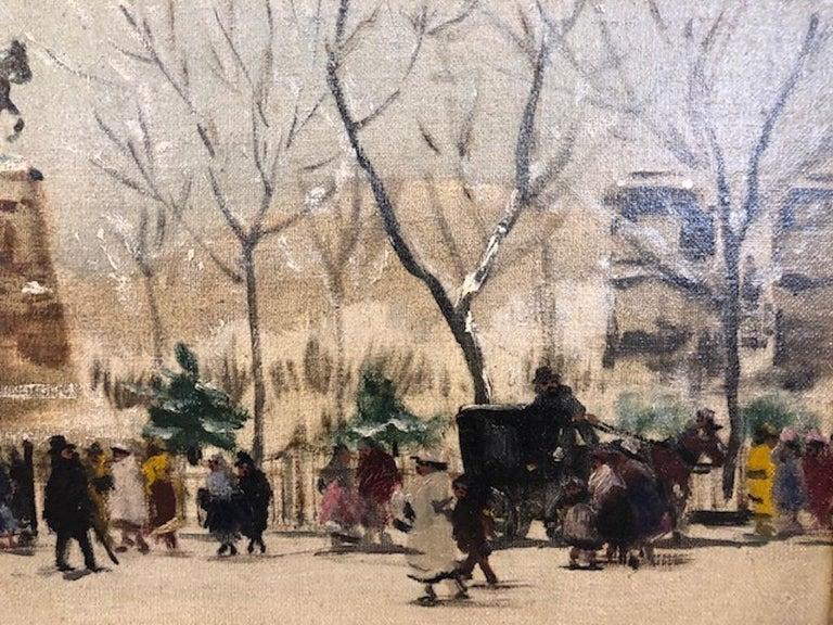 Winter Paris - Other Art Style Painting by Antal Berkes