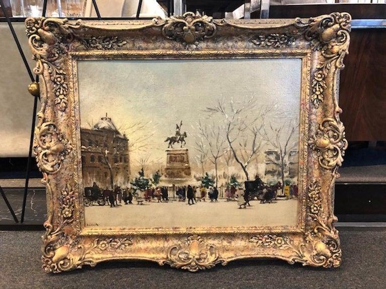 Winter Paris - Painting by Antal Berkes