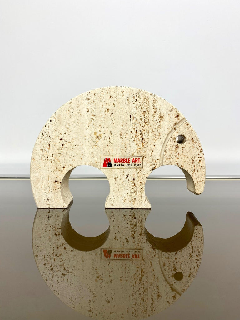 Late 20th Century Anteater Travertine Paperweight Sculpture by Fratelli Mannelli, Italy, 1970s For Sale