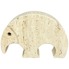 Anteater Travertine Paperweight Sculpture by Fratelli Mannelli, Italy, 1970s