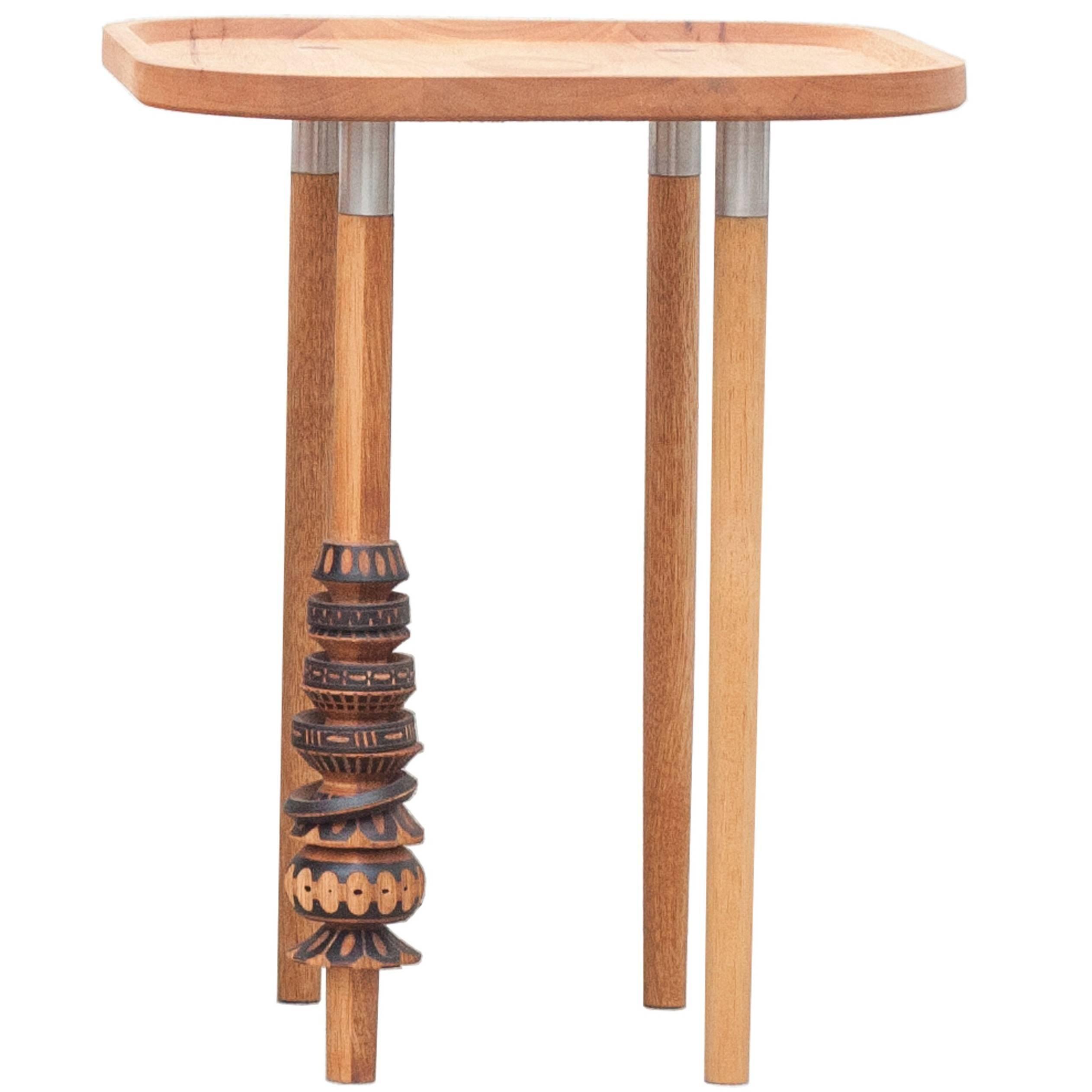 """Antelmo"" Contemporary Side Table I, Handmade Mexican Design"