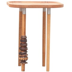 """Antelmo"" Contemporary Side Table I, Handmade Mexican Design"