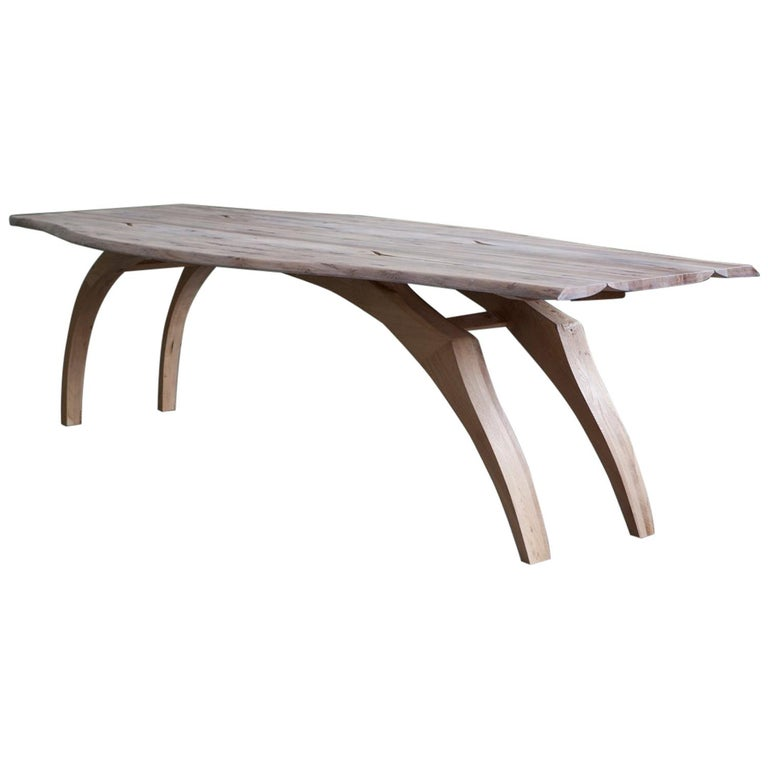Antelope Table Sculptural Dining With Bleached And Oiled Oak Top For