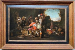 17th century Dutch Old Master painting - The treasures - Figurative Gold