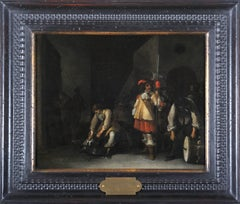 17th century Flemish figurative painting - Amsterdam oil on panel Italy Baroque