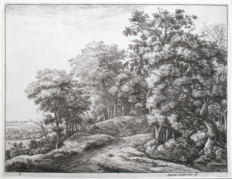 Anthonie Waterloo Landscape Print - The Great Landscapes VI (2nd State)