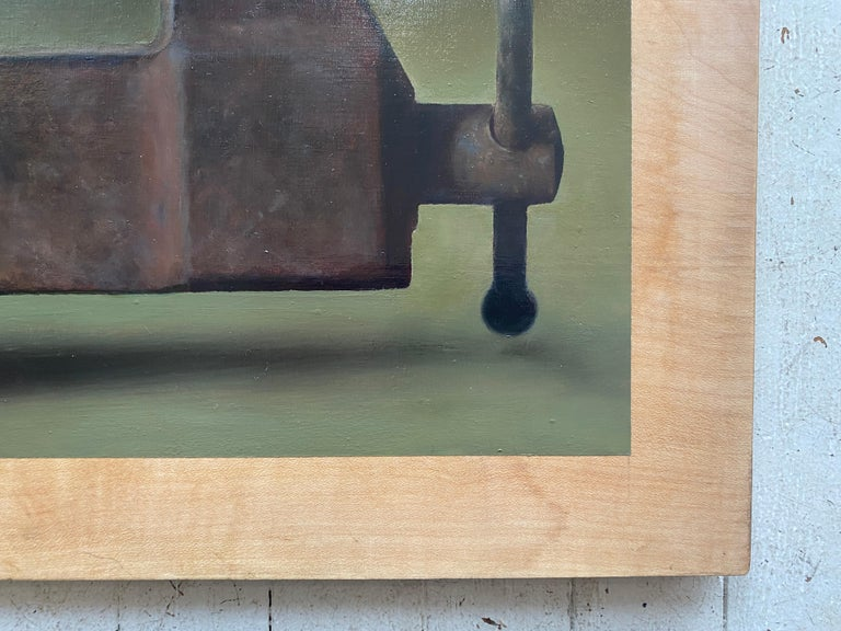 Brinkmanship - Brown Interior Painting by Anthony Ackrill